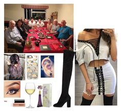 """Dinner with harry and his family"" by littleharmonythedirection ❤ liked on Polyvore featuring Dolce&Gabbana, Casetify, Nordstrom and MAC Cosmetics"