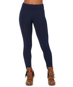 Another great find on #zulily! Navy Fleece Legging by RiV #zulilyfinds