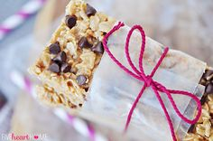 Chewy No-Bake Granola Bars with Coconut Oil