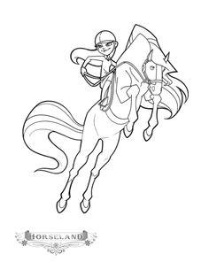 princess riding horse coloring page girls Pinterest