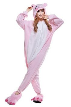 It is very rarely that one can take pride in being a pig. This is possible only if you have a comfortable and fun pig onesie made with soft and cozy fleece. You can be the coolest piggy ever with this
