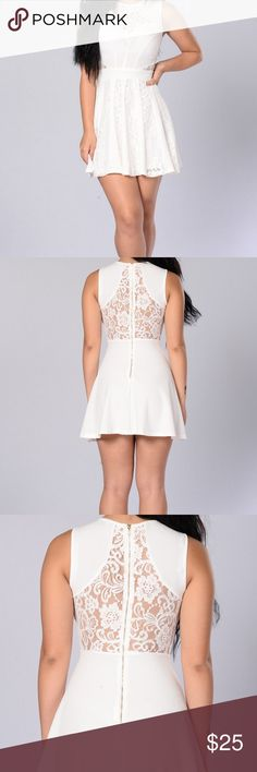 Fashion Nova White Lace Dress Worn once, in excellent condition, great for forma events like graduation and can also be worn casually Fashion Nova Dresses