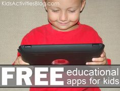 free educational apps for kids - there are literally dozens of games!!