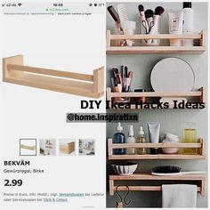 Advertisement / Advertisement Hay dear I have an IKEA hack today. If you ad / advertise Hay her dear today I have an IKEA hack. If you love The Post Ad / Advertising Hay today I have an IKEA hack. If you appeared first on wall design ideas. Ikea Hacks, Ikea Hack Storage, Ikea Furniture Hacks, Diy Hacks, Ikea Shelves, Small Bathroom Shelves, Ikea Organization, Storage Drawers, Ikea Hack Bathroom