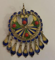 Magazin Antichitati Buzau: Brosa- Pandantiv cu email Kabyle