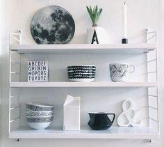 My Home: String Pocket by Nils Strinning Diy Interior, Scandinavian Interior, Interior Styling, Home Living, My Living Room, Marimekko, String Pocket, String Shelf, Magazine Deco