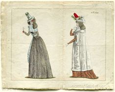 Journal de la Mode et du Goût, 25 decembre 1790, 31e cahier, pl. 1 en 2, M. Le Brun, 1790