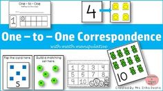 To create a strong math foundation, it starts with one-to-one correspondence! Our early mathematicians need A LOT, A LOT of opportunities to practice counting in a variety of ways. This product allows mathematicians to self check and really solidify one-to-one correspondence.