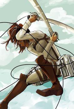 Shingeki No Kyojin - I love Hanji... She is so eccentric and it shows in her fighting style.