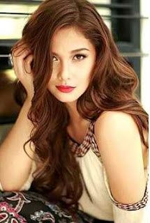Filipina dancer, model and actress, Maja Salvador. Cute Hair Colors, Cool Hair Color, Hair Colour, Cute Hairstyles, Wedding Hairstyles, Medium Hair Styles, Short Hair Styles, Maja Salvador, Asian Hair