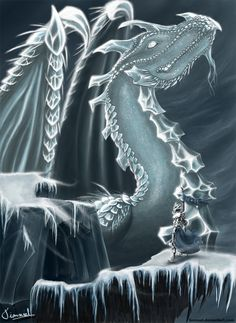 The Ice Dragon by ~Tionniel on deviantART