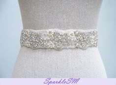 Crystal Bridal Belt - Katya - SparkleSM Bridal Sashes