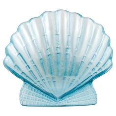 Add a touch of charm to your tablescape with this fused glass plate, showcasing a scallop silhouette and tinted blue hue.  Product: ...