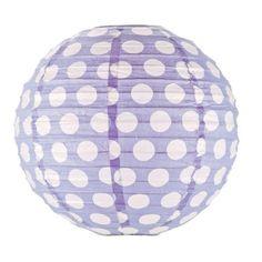Polka Dot Lantern - Lilac