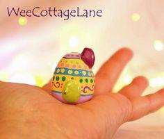 Easter Egg House, Mini Egg House, Mini Easter House, Tiny House, Ceramic House, Mini Cottage,  Wee Cottage Lane, Tiny Home, Miniature Home