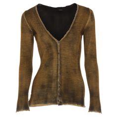 Avant Toi - Silk Cashmere Cardigan  (Gold) #Hirshleifers