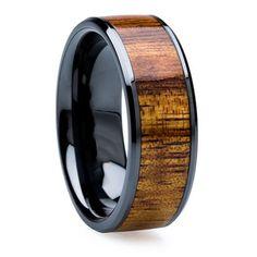 8 Mm Wood Mens Wedding Bands KOA Inlay