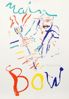 Willem de Kooning, 'Rainbow - Thelonius Monk - Devil at the Keyboard', 1972, RoGallery | Artsy