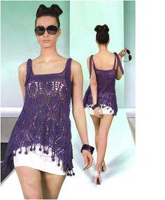 CROCHET PATTERN Womens lacy crochet dress  by carolrosa on Etsy, $1.78