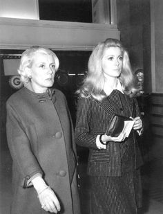 Catherine Deneuve and her mother