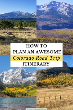 Colorado Road Trip Itinerary | Wondering how to plan your Colorado road trip? This Colorado road trip itinerary (with maps!) has the best stops in Colorado. It shows day-by-day where to go in Colorado for beautiful views including bucket list locations in Colorado like its 4 National Parks, Scenic Byways,