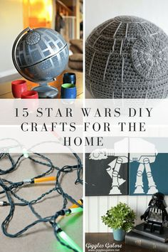The Last Jedi is already premiering all over the world, and it is sending us Star Wars nerds into a frenzy! If you think your home could use a little decor that is out of this world, you don't need to spend a lot of money. Easy Diy Crafts, Home Crafts, Fun Crafts, Nerd Crafts, Star Wars Crafts, Star Wars Decor, Star Wars Zimmer, Star Wars Bedroom, Star Wars Party