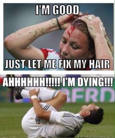 Women's soccer vs men's. Too true! I think the women might have something to prove, don't you?!