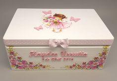 Personalisierte Baby Andenken und Speicher-Box von CozyHandicrafts