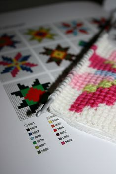 "https://flic.kr/p/9GRBVR | Tunisian crochet - charts from the book, ""Icelandic Knitting."""
