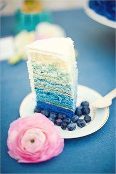 de la tonalidad de azules