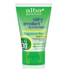 Alba Botanica Very Emollient Natural Sun Block Mineral Protection Kids SPF 30 Description: New and Improved! Very Emollient SPF 30 Water Resistant Tear Free Paraben Free UVA / UVB Protection. Natural Sunscreen, Sunscreen Spf, Vitis Vinifera, Natural Face, Going Natural, Biodegradable Products, Lotion, Pure Products, Beauty Products