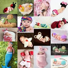 Baby Infant Newborn Aminal Knit Costume Photography Prop Crochet Beanie Hat Cap in Baby, Clothes, Shoes & Accessories, Accessories | eBay!