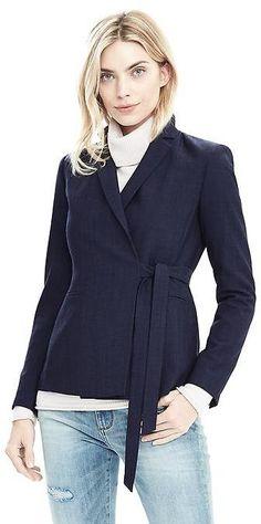 Lightweight Wool Wrapped Blazer
