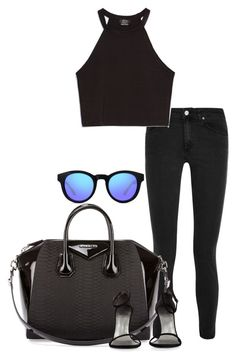 """""""Untitled #1061"""" by hernandezjenni ❤ liked on Polyvore featuring Acne Studios, Givenchy, GlassesUSA, Zara and Stuart Weitzman"""
