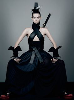 Honor.   Photography : Fabin Baron;  Styling : Karl Templer;  Model : Meghan Collison;    stylized hakama