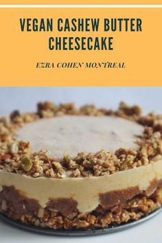 Our cashew butter cheesecake is a great dairy-free alternative to the classic cheesecake. Cashew butter creates a creamy substitute that doesn't sacrifice on flavor or texture. Try our vegan-friendly cashew butter cheesecake! Cashew Cheesecake, Classic Cheesecake, Cheesecake Recipes, Cashew Cream, Cashew Butter, Butter Recipe, Vegan Desserts, Vegan Recipes, Dairy Free Alternatives