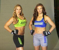 Ronda Rousey and Miesha Tate.