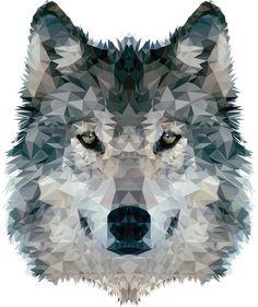 Wolf Polygon by kokteyl125.deviantart.com on @DeviantArt
