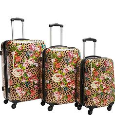 Chariot Travel Leo Flower 3Pc Luggage Set Leo Flower >>> Details can be found by clicking on the image.