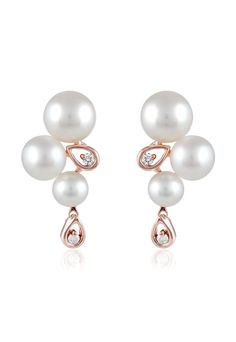 http://rubies.work/0928-emerald-pendant/ Effy 14K Rose Gold Cultured Pearl and Diamond Earrings, 0.08 TCW