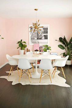 Ikea home decor hacks for a stylish home brit + co decor your home Ikea Dining Room, Table Ikea, Dining Room Colors, Ikea Round Table, Ikea Kitchen, Kitchen Dining, Kitchen Decor, Kitchen Cabinets, Home Decor Hacks