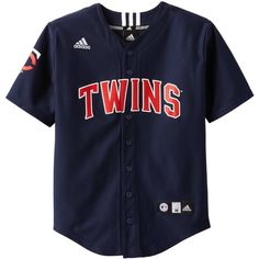 0eae29607 MLB Minnesota Twins Boy s Screen Printed Team Color Baseball Jersey ( 9.40)  ❤ liked on Polyvore featuring tops