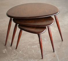 ERCOL : NEST TABLE #furniture_design | O B J E C T S U0026 F U R N I T U R E |  Pinterest | Nest, Table Furniture And Tables