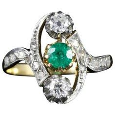 Image result for antique  3 stone vertical diamond rings