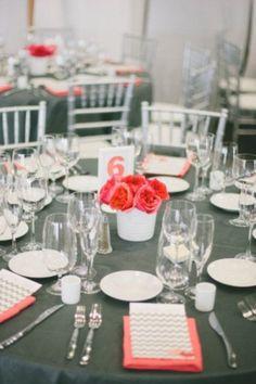 46 Elegant Grey And Coral Wedding Ideas | HappyWedd.com
