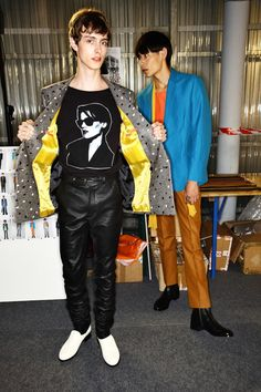 Backstage at the Paul Smith Men's Spring/Summer '16 Show