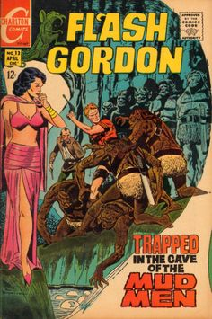 Flash Gordon 13 Charlton Comics Outer Space Beast Aliens Dinosaurs Martians Astronauts 1969 VF by LifeofComics Flash Comics, Comics For Sale, Sci Fi Comics, Horror Comics, Comic Book Pages, Comic Book Artists, Comic Book Covers, Captain America Comic, Silver Age Comics
