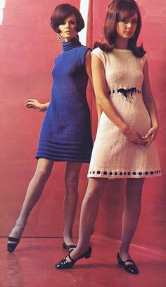 Blue White Knit Sweater VINTAGE 60s DRESSES SHEATH EMPIRE TENT KNITTING CROCHET PATTERNS | eBay