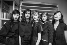 backstage at Chadwick Bell Spring 2014, shot by Kevin Tachman