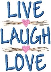 Live Laugh Love Sampler   Primitive   Machine Embroidery Designs   SWAKembroidery.com HeartStrings Embroidery